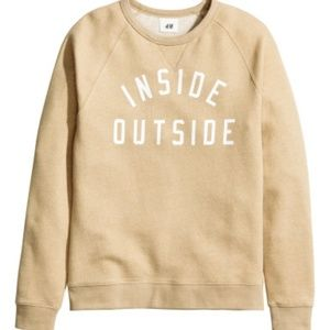 H&M Inside Outside Sweatshirt